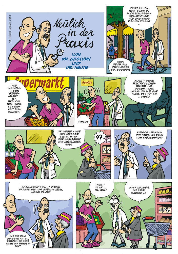 Dental-Comic - Supermarkt