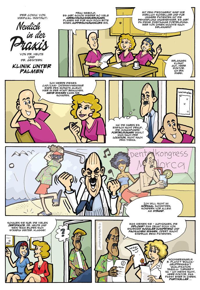 Dental-Comic - Klinik Unter Palmen