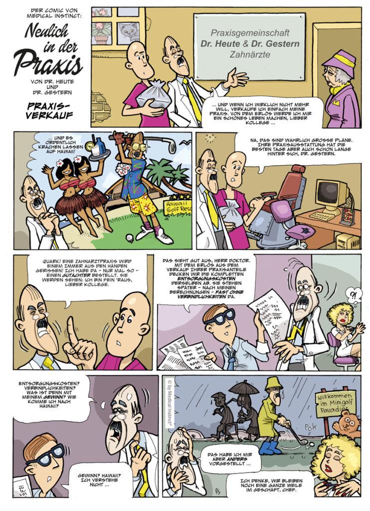 Dental-Comic - Praxisverkauf