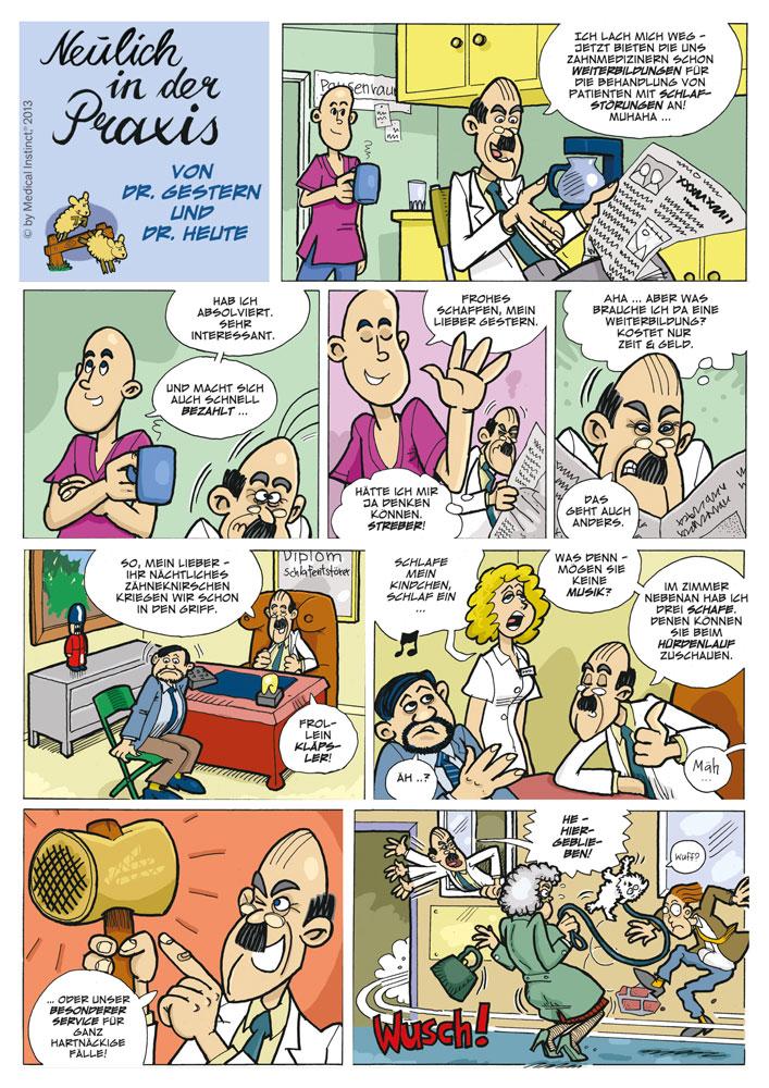 Dental-Comic - Weiterbildung Schlafstörung