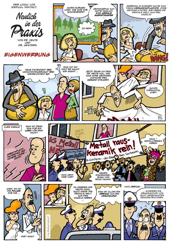Dental-Comic - Eigenwerbung