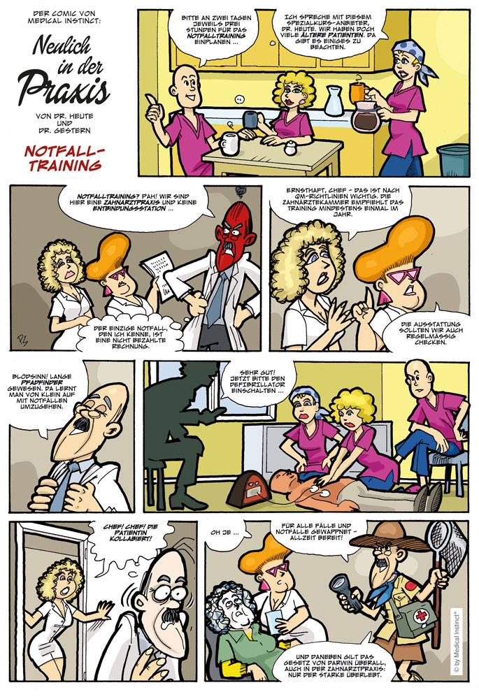 Dental-Comic - Notfall Training