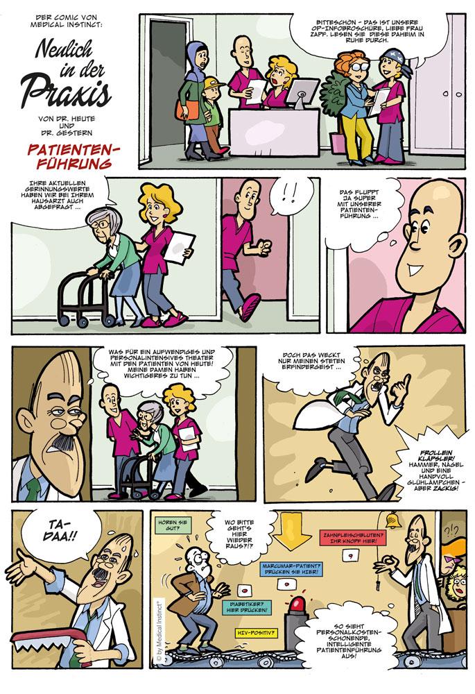 Dental-Comic - Patientenführung