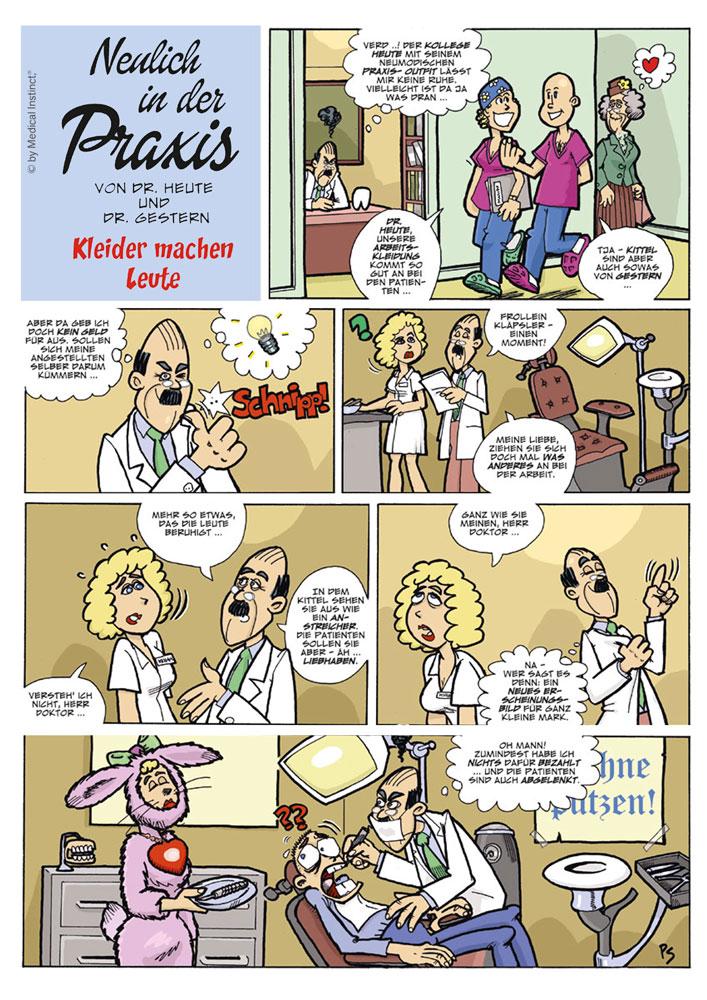 Dental-Comic - Kleider Machen Leute