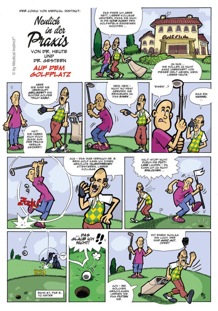 Dental-Comic - Auf Dem Golfplatz