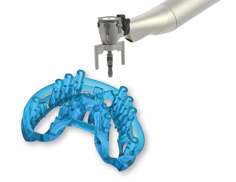 Geführte Chirurgie - Bohrschablone mit Winkelstück