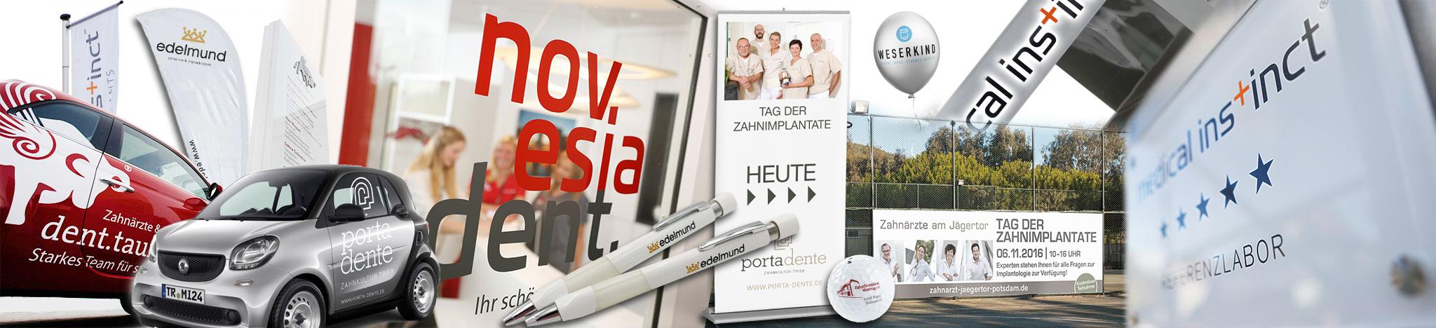Medical Instinct® Praxismarketing Werbetechnik - Autobeschriftung, Fahnen, RollUps, Schilder, Banner