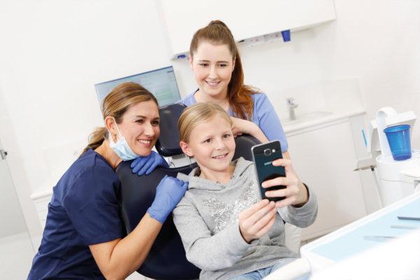 Fotoshooting in der Zahnarztpraxis