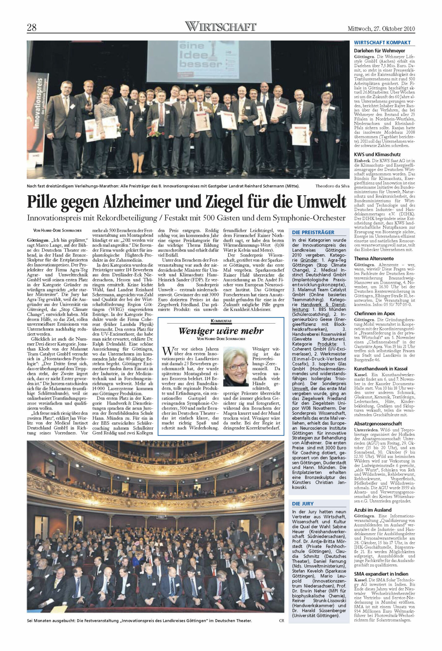 Göttinger Tageblatt - Innovationspreis 2010