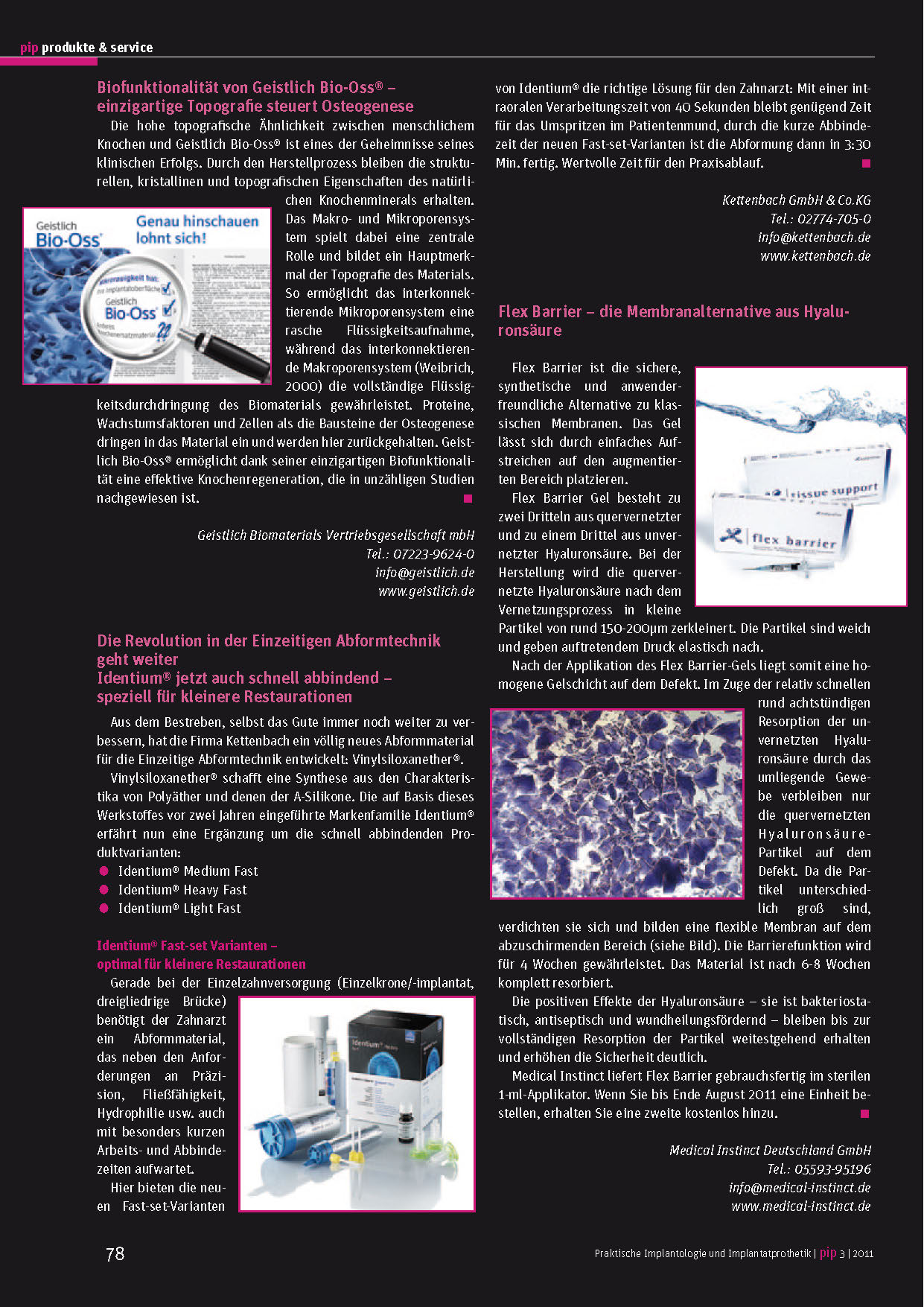 PIP - Flex Barrier – Die Membranenalternative aus Hyaluronsaeure
