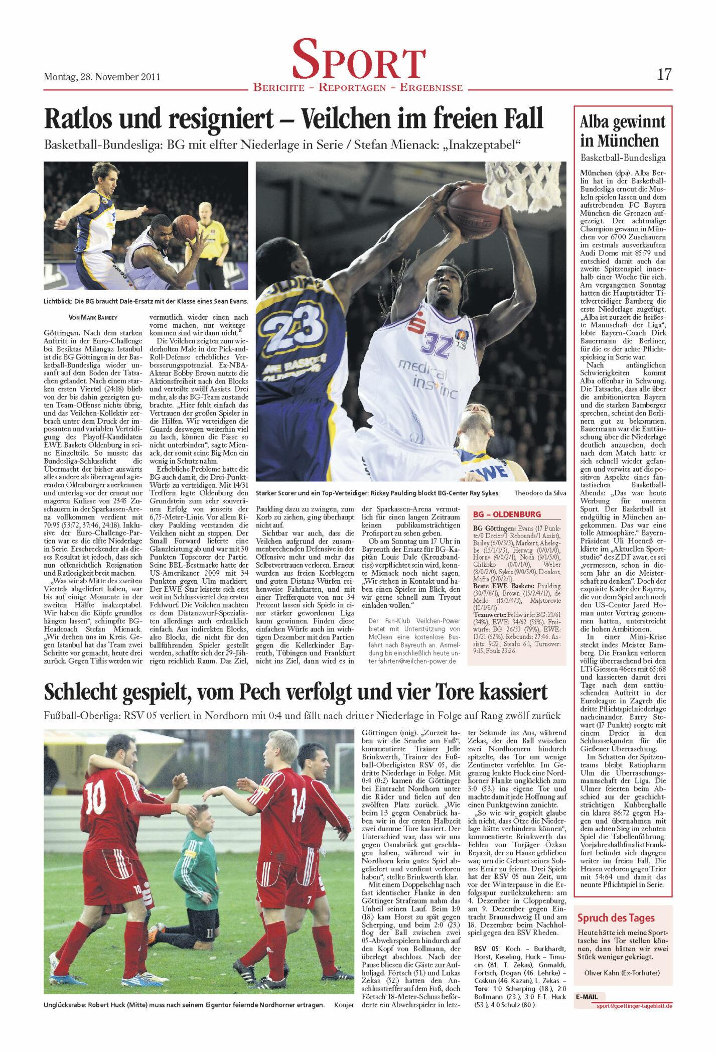Artikel BG Göttingen