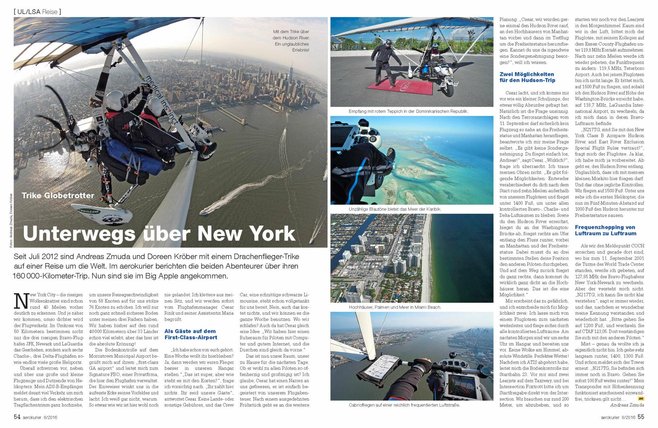 Trike Globetrotter - Unterwegs über New York