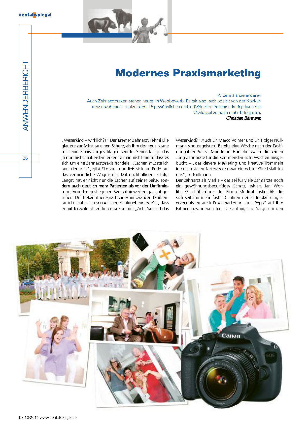 Dental Spiegel – Modernes Praxismarketing