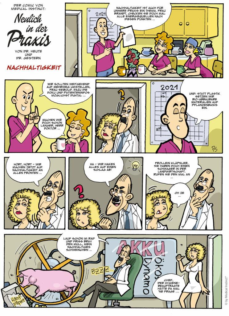 Dental-Comic Nachhaltigkeit